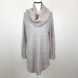 Dreamers by Debut Cowl Neck Long Sweater